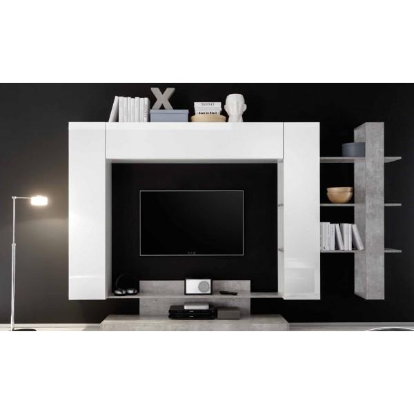 Offerta cucina white parete attrezzata nice 1 camera da for Parete letto