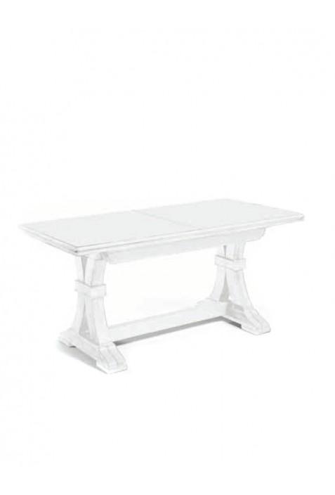 Tavolo trasformabile in legno laccato bianco for Tavolo bianco laccato