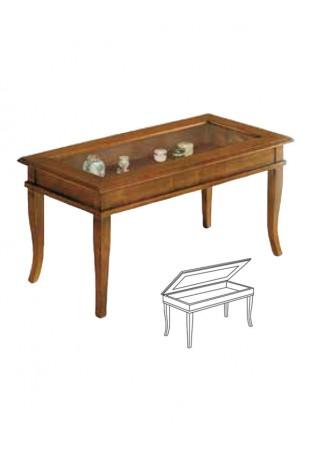 Arte povera tavolino bacheca rettangolare