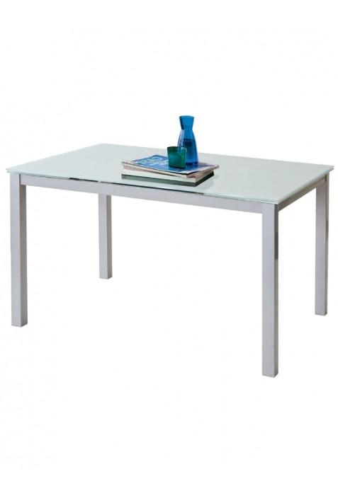 Tavolo Fast con vetro bianco