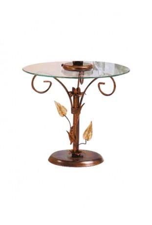 tavolino da salotto tondo foglie