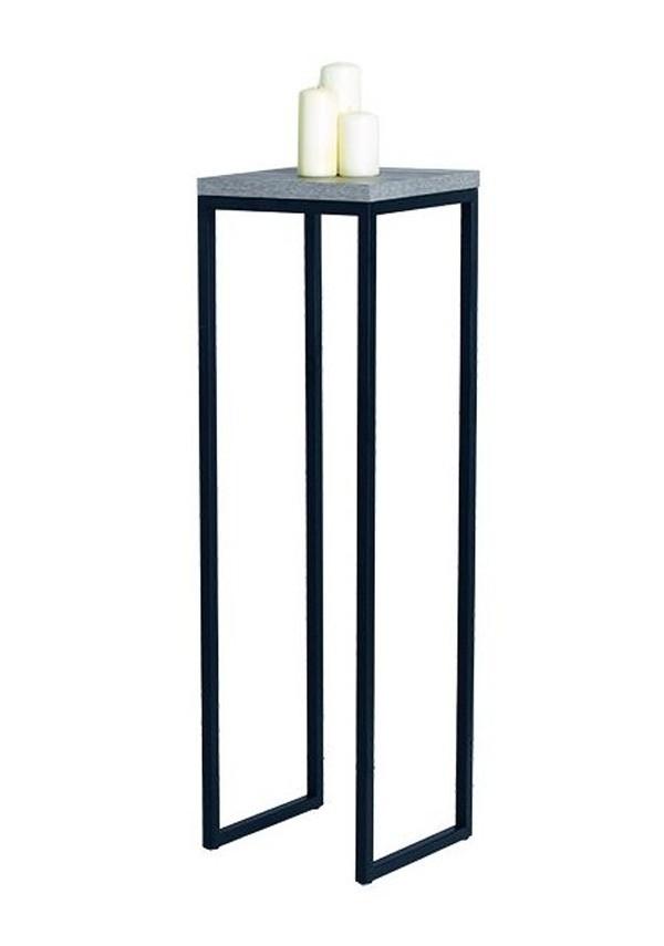 Alzatina in ferro con piano in legno laminato DM.01014