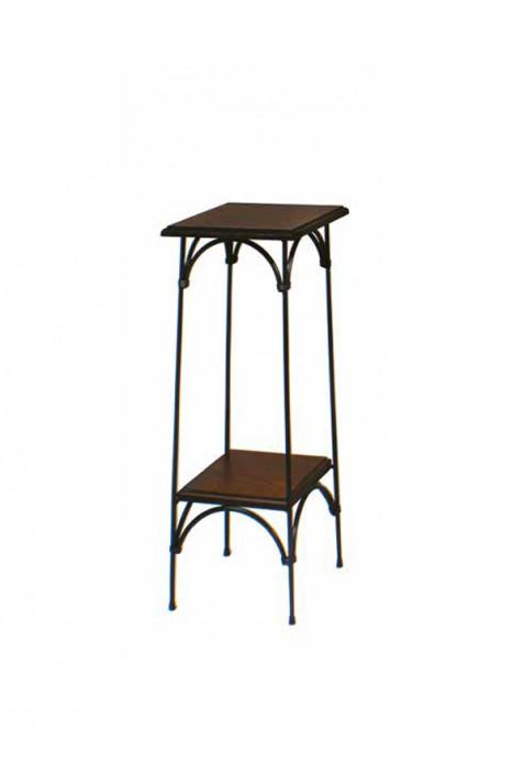 Alzatina country in ferro battuto e piani in legno R.04051
