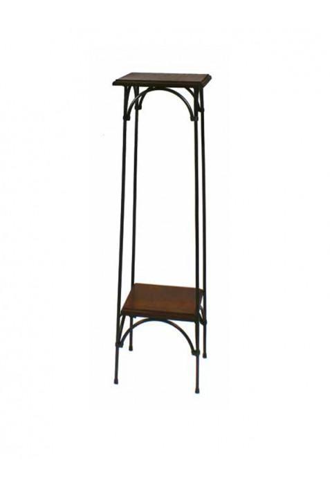 Alzatina country in ferro battuto e piani in legno R.04053