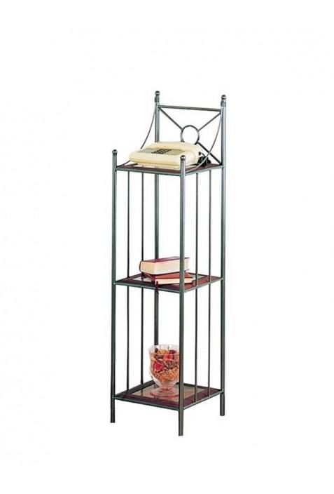 Etagere Liberty in ferro battuto con ripiani in ferro R.0931