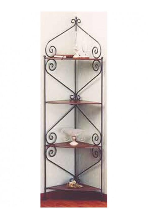 Etagere in ferro battuto con ripiani in legno R.0650
