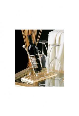 Porta Bottiglia con bicchieri R.01234