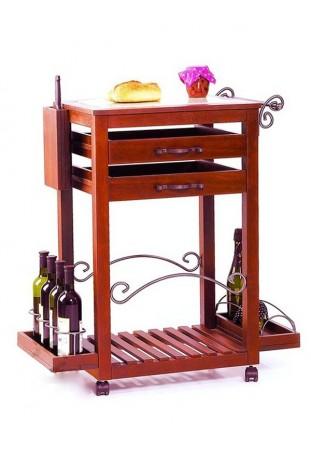 Carrello da cucina con 2 cassetti R.0843