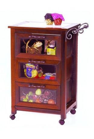 Carrello da cucina con 3 cassetti R.0920