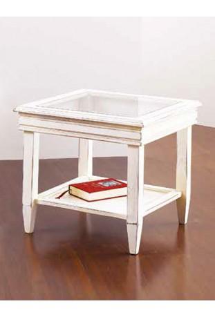 Tavolino con piano in vetro R.01256