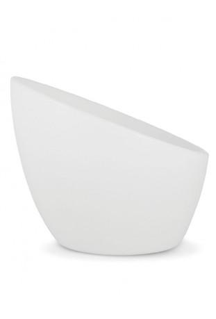 Poltrona Lazy in polietilene bianco