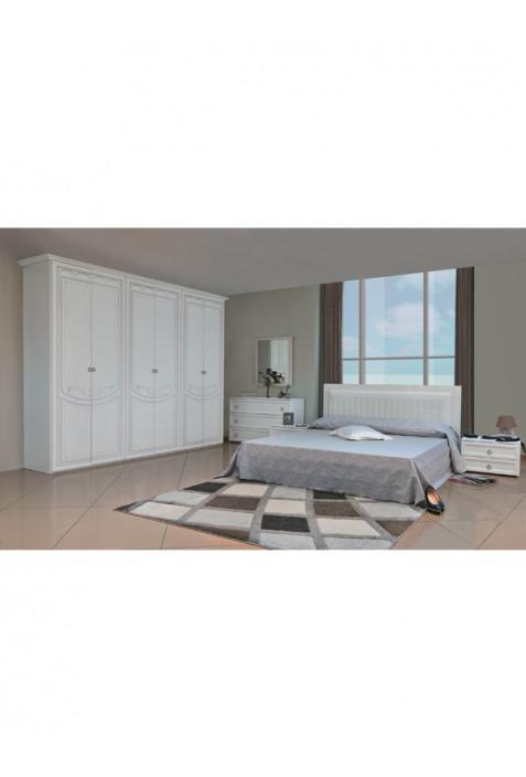 Camera da letto componibile frassino e laccato bianco