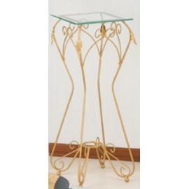 Alzatina porta oggetti Arial in ferro (Piano in vetro)