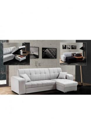Vanessa divano letto bianco c/contenitore