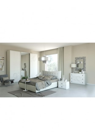 Pamela Camera da letto larice bianco