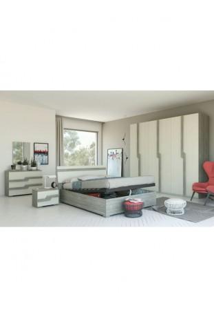 Elisa Camera da letto grigio e bianco