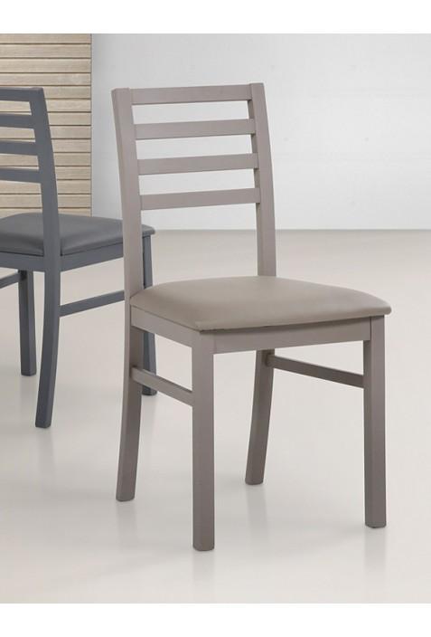 Sedute Per Sedie Di Legno.Sedia Laila In Legno E Seduta In Ecopelle