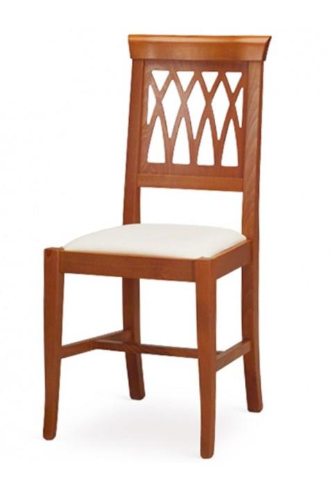 Sedie Di Legno Imbottite.Arte Povera Sedia In Legno Massello Seduta Imbottita Ecru Ciliegio