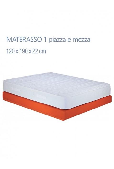 Materasso 1 piazza e mezza modello Montecarlo
