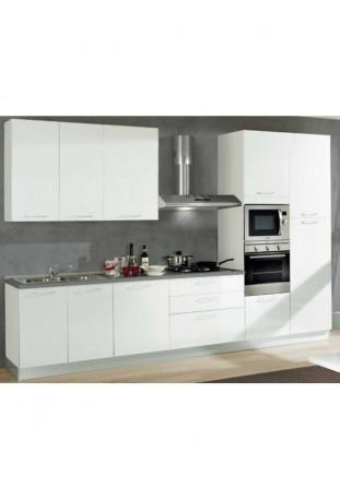 Cucina Miele + Parete attrezzata Nice 1 bianco + Camera da letto California