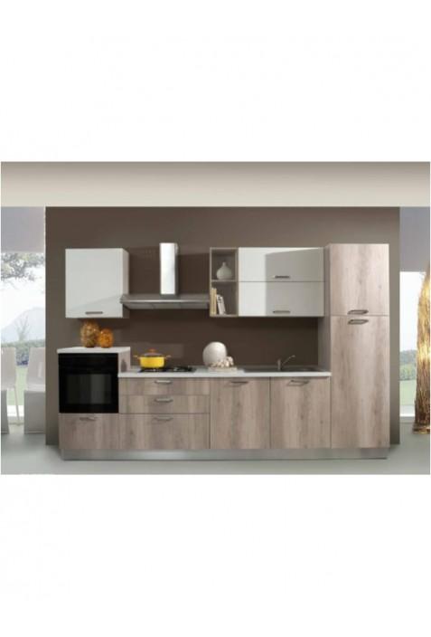 Elettra 330 Cucina gordon e bianco lucido con elettrodomestici