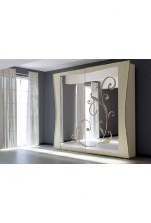 Silvia Armadio con specchio c/cassettiera