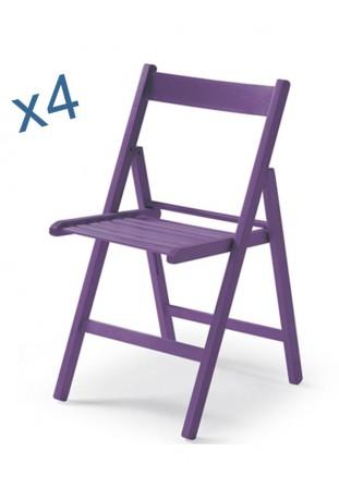 Set di Quattro Sedie colorate ANILINA VIOLA