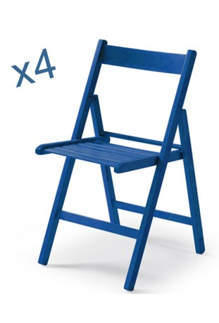 Set di Quattro Sedie colorate ANILINA BLU