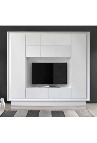 Parete Attrezzata Quadro Tv Bianco