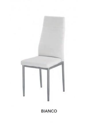 Sedia ecopelle modello Tiffany Bianco