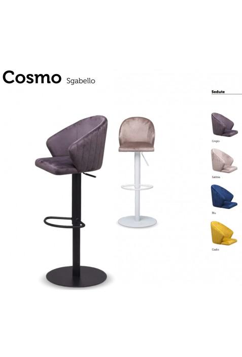 Sgabello modello Cosmo con pistone a gas