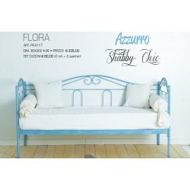 Flora Azzurro SHABBY CHIC Divano in Ferro battuto